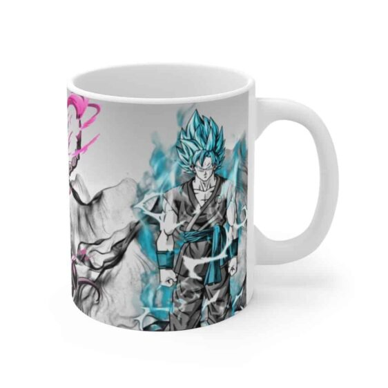 Dragon Ball Lord Beerus Goku Vegeta SSJ Blue Art Coffee Mug