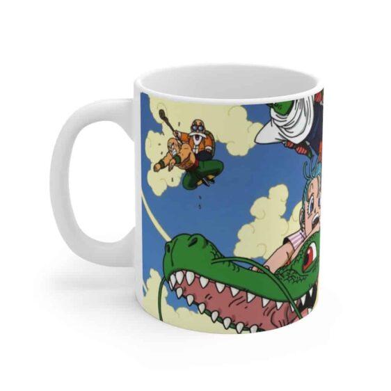 DBZ Kid Goku Bulma Krillin Riding Dragon Cute Coffee Mug
