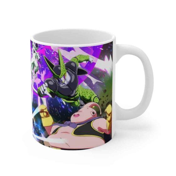 Dragon Ball Goku Vegeta Gohan SSJ2 vs Villains Coffee Mug