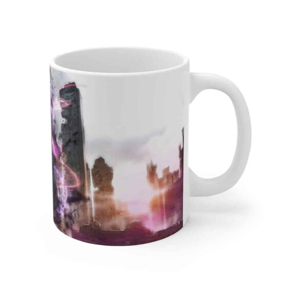 Dragon Ball Goku Black in Destroyed Modern City Coffee Mug