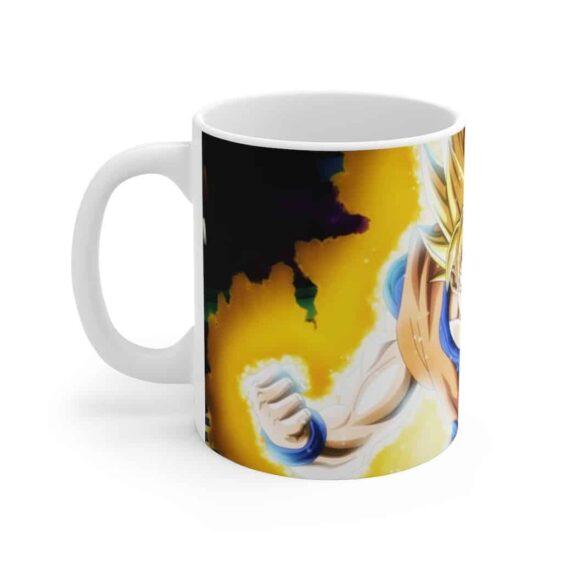 Dragon Ball Z Super Saiyan Blue & Yellow Dope Goku Cofee Mug