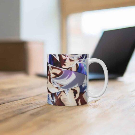 DBZ Goku Ultra Instinct Silhouette & Poses Ceramic Coffee Mug