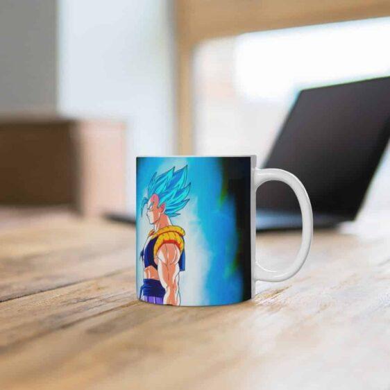 DBS Gogeta Blue vs Goku Black Saiyan Rose Coffee Mug