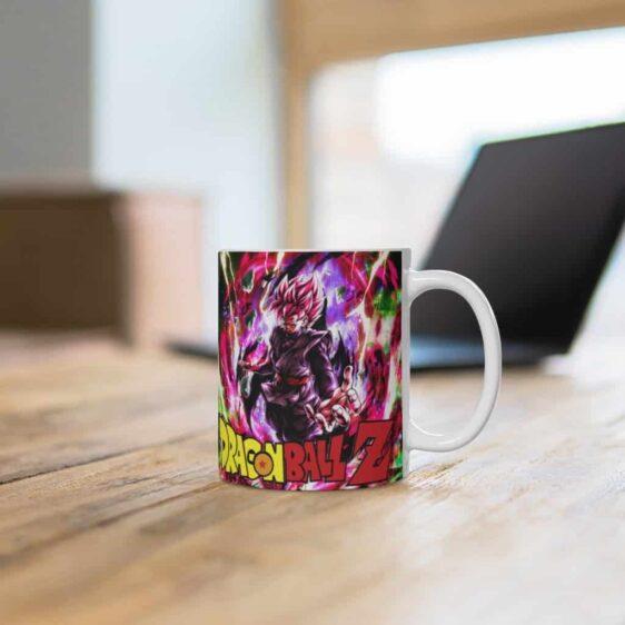 Dragon Ball Z Goku Black SSJ Rose Art Dope Ceramic Coffee Mug
