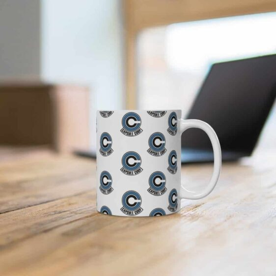 Dragon Ball Z Capsule Corp Logo Pattern Simple Coffee Mug