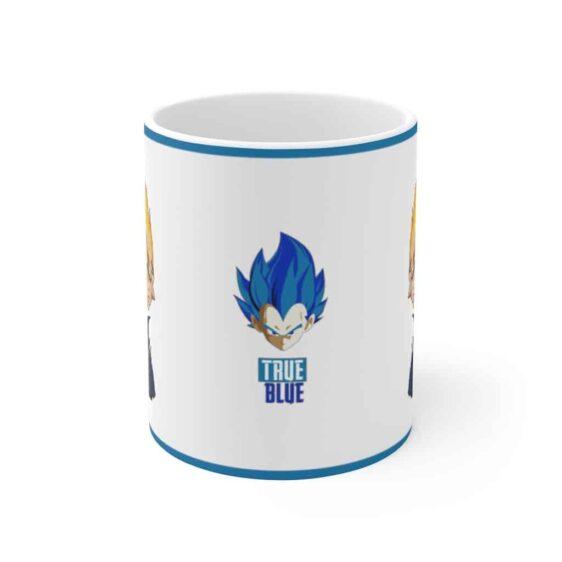 DBZ Vegeta Minimalist Vector Art True Blue Coffee Mug
