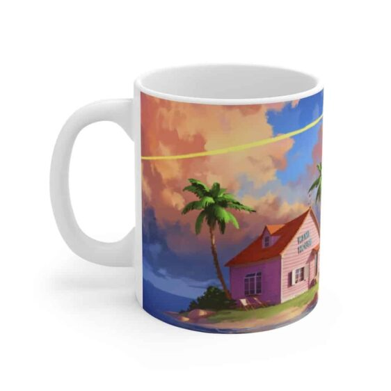 Dragon Ball Z Kame House Painting Awesome White Coffee Mug