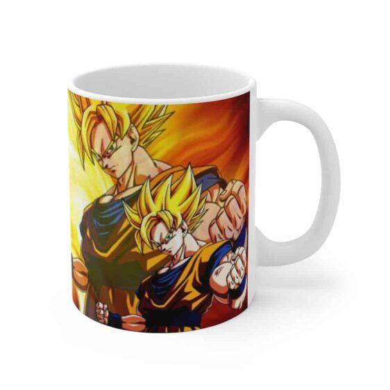 Dragon Ball Z Enraged SSJ2 Gohan & Goku Cool Ceramic Mug