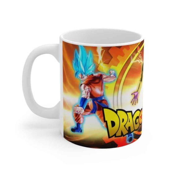 Dragon Ball Super Golden Frieza vs Goku Vegeta SSJ Blue Coffee Mug