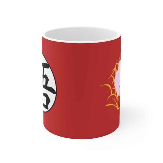 DBZ Son Goku Eating Clouds & Kanji Symbol Cool Ceramic Mug