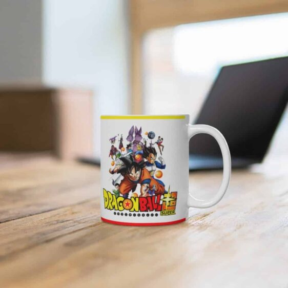 Dragon Ball Super Main Characters Awesome White Ceramic Mug