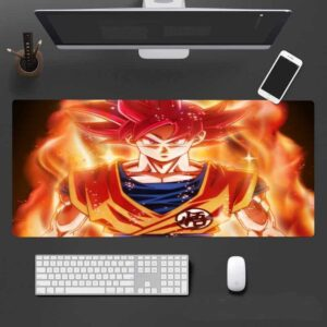 Battle Of The Gods Goku Red Super Saiyan God Form Mouse Pad