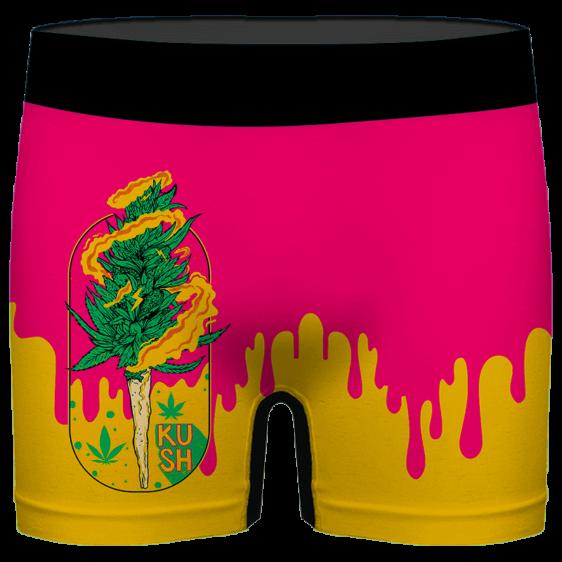 Budding Kush Joint Drip Pink Dope 420 Marijuana Men's Underwear