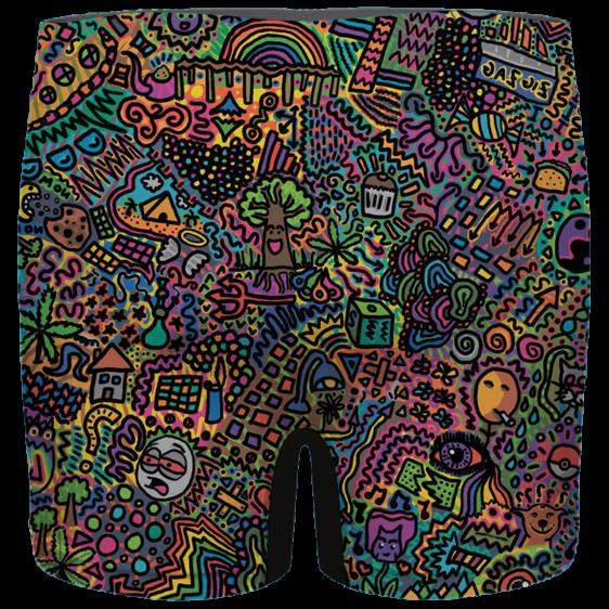 Colorful Marijuana Artwork 420 Weed Awesome Men's Boxer Brief