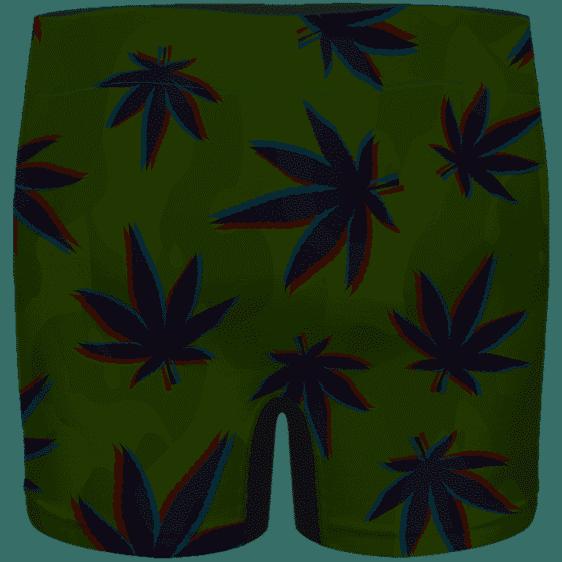 Cool Lion Head Smoking Blunt 420 Marijuana Men's Boxers