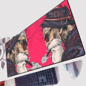 DBZ Badass Master Roshi Half-Face Pink Gaming Mouse Pad