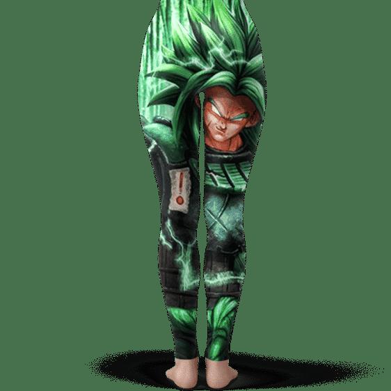 DBZ Broly Wearing Samurai Armor Dope Green Yoga Pants