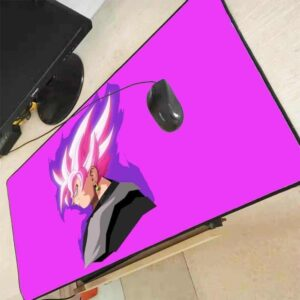 DBZ Evil Goku Black Fuchsia Pink Non-Slip Mouse Pad