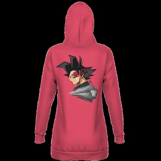 DBZ Goku Black Cartoonized Artwork Pink Hoodie Dress