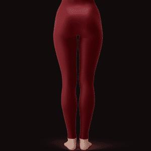 DBZ Goku Black Super Saiyan Rose Sexy Red Velvet Leggings
