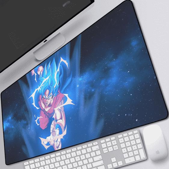 DBZ Goku SSGSS Blue Electrifying Aura Whis Symbol Mouse Pad