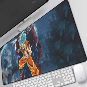 DBZ Goku Super Saiyan Blue Black Aura Desk Mouse Pad