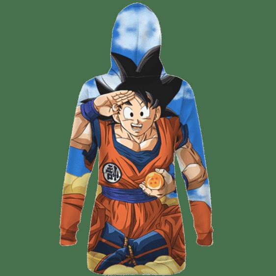 DBZ Happy Son Goku Flying Nimbus Cool Hoodie Dress