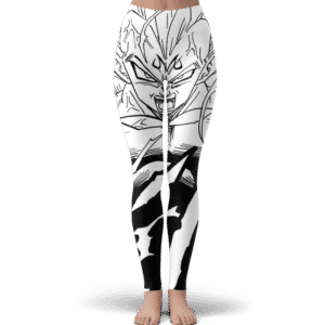 DBZ Majin Vegeta Comic Art Black White Cool Yoga Pants