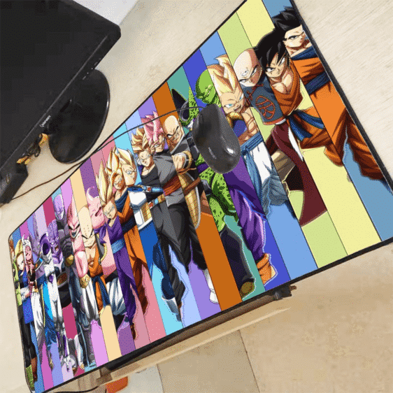 DBZ Saiyan Heroes And Villains Line Up Large Mouse Pad
