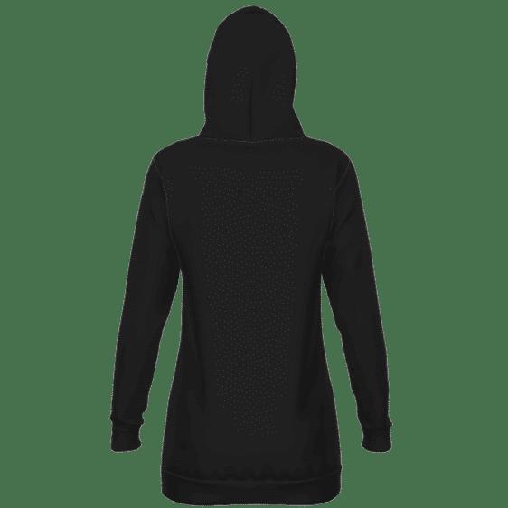 DBZ Saiyan Royal Family Symbol Minimalist Black Hoodie Dress