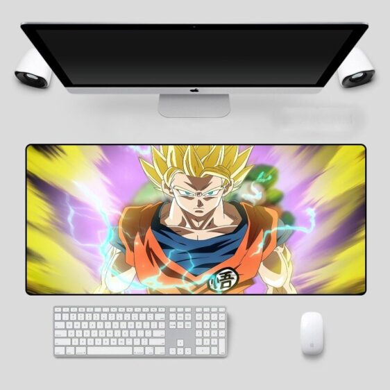 DBZ Super Saiyan Goku Yellow Aura Extended Mouse Pad