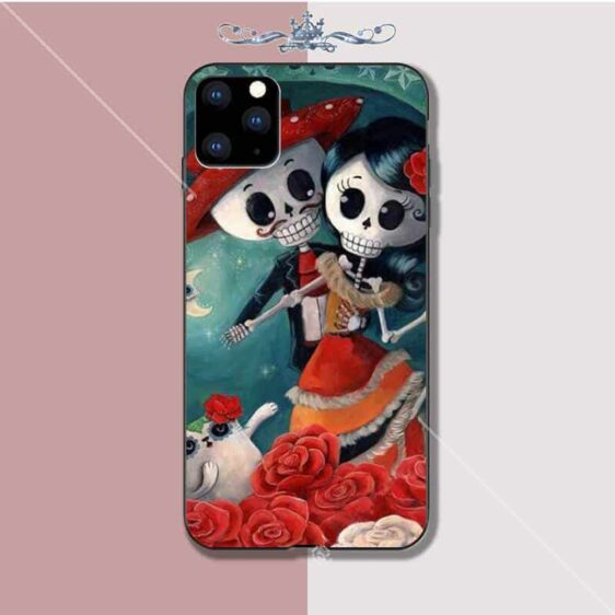 Day of The Dead Skeleton Couple Dancing Cool iPhone 12 Case