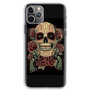 Dope Calavera Rose Art Skull Awesome iPhone 12 Case