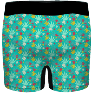 Dope Cannabis Pattern 420 Marijuana Surf Green Men's Boxers