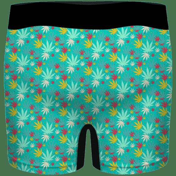 Dope Cannabis Pattern 420 Marijuana Surf Green Men's Boxers