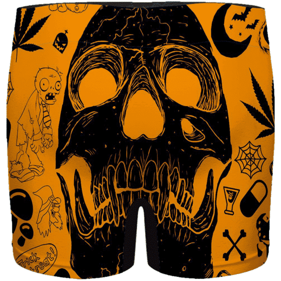 Dope Doodle Art Cartoon Skull 420 Marijuana Men's Underwear