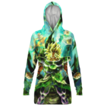 Dragon Ball Broly Goku Vegeta Legendary Green Hoodie Dress