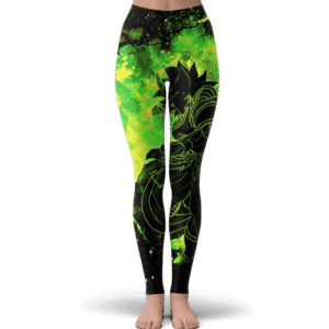 Dragon Ball Broly Silhouette Green Smoke Awesome Leggings