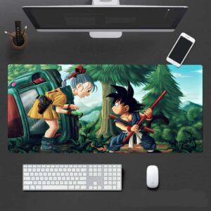 Dragon Ball Bulma And Kid Goku First Encounter Art Mouse Pad