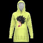Dragon Ball Caulifla Neon Yellow Dope Hoodie Dress