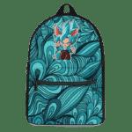 Dragon Ball Chibi Goku SSGSS Halloween Teal Blue Backpack