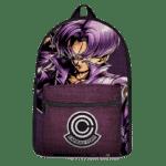 Dragon Ball Future Trunks Capsule Corp Purple Canvas Backpack