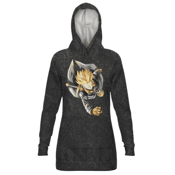 Dragon Ball Future Trunks Xeno SSJ Gray Hoodie Dress