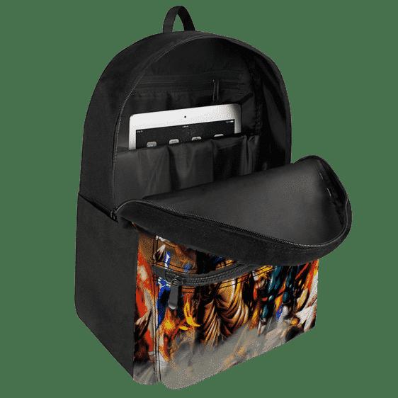 Dragon Ball GT Goku Vegeta Gogeta SSJ4 Dope Canvas Backpack