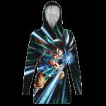 Dragon Ball GT Kid Goku Kamehameha Cute Black Hoodie Dress