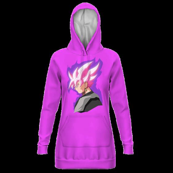 DBZ Goku Black Super Saiyan Rose Dope Art Pink Hoodie Dress