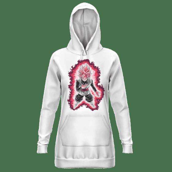 Dragon Ball Goku Black Super Saiyan Rose White Hoodie Dress