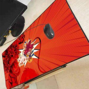 Dragon Ball Goku Super Saiyan God Shenron Red Large Mouse Pad