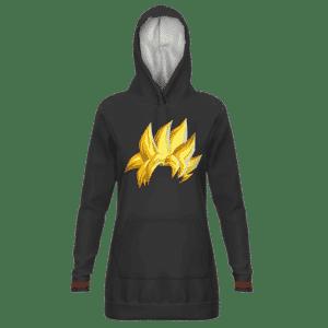 Dragon Ball Goku's Hair Super Saiyan Black Hoodie Dress