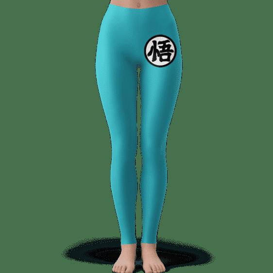 Dragon Ball Goku's Kanji Symbol Blue Awesome Yoga Pants